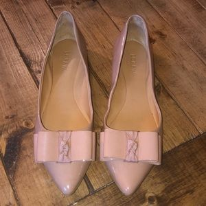J.Crew Bronzed Clay Emery Flats Pointed Toe Bow